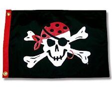 "One Eyed Jack Boat Flag 12X18"" Pirate Jolly Roger Skull New"