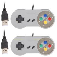 2 MANETTES CONTROLEUR JEU USB GAMEPAD RETRO TYPE SNES SUPER POUR PC WINDOWS MAC