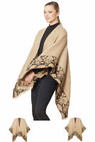 ScarvesMe Women's Casual Cozy Animal Print Open Front Ruana Shawl Cardigan Capes