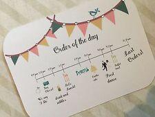 wedding programme