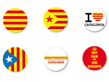Lot Badge Button Pins Patch Ø38mm Independencia Catalunya Catalán Cataluña