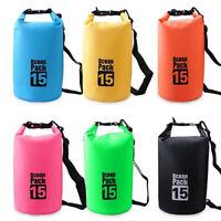 Outdoor Backpack Kayak Ocean Pack Waterproof Dry Bag Sack Multi Colour 2-30L So