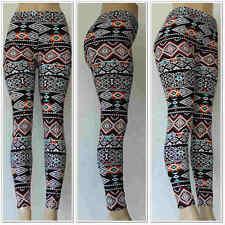 Fashion Colorful Pattern Wave Leggings One Sz Skinny Women Slim Stretch Pants 1