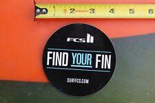 Fcs Fins Find Your Fin Control System Surfboards V15a Vintage Surfing Sticker