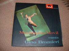 """GINO BRAMIERI """" MOVIMENTO MOVIL """"   ITALY'63 CON INSERTO POLYDOR  PUBBLICITA'"""