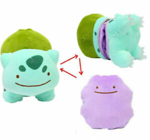 """12"""" Bulbasaur Ditto Metamon Inside-Out Cushion Plush Figure Doll Gifts"""