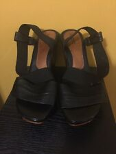 Aldo Women's Wedge Heeled Sandals Black Size EUR 40; US 9.5/10.0-EUC