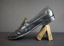 Men's Brass Boots Black Leather Loafer Slip On Size 11.5