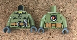 LEGO Olive Green Volcano Explorer Male,Shirt with Belt & Radio Minifig Tors Pk1