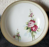 Vintage Hand Painted Roses 3 Footed Bowl, Candy/Nut Dish Nippon, Japan RARE