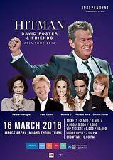 """David Foster & Friends """"Asia Tour 2016"""" Bangkok Concert Poster-Cetera,Marx,Mel C"""