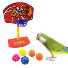Pet Birds Chew Parakeet Bell Balls Parrot Toys Birdie Basketball Hoop Prop Play