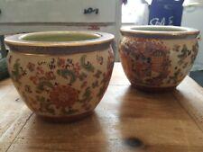 Pair Antique vintage chinese japanese cloisonne vase pot