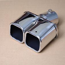 MAK Car Square Dual Slant Exhaust Muffler Tail Pipe Tip Silencer Inlet 46 - 62mm