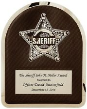 Sheriff Hero Plaque - with free Personalization