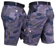 Camouflage Cotton Loose Fit Regular Size Shorts for Men