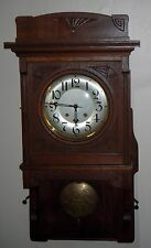 ANTIQUE LFS Furtwängler & söhne CHIME SWINGER WALL CLOCK 8 DAY GERMANY WORKING