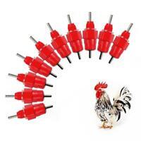 1/10*Water Nipple-Drinker Chicken Feeder Poultry Supplies Hen Screw In Style