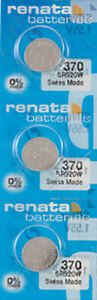 3 x Renata 370 Watch Batteries, SR920W Battery | Shipped from Canada
