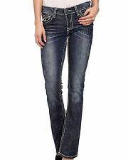 Affliction Jade Republic Sierra Bootcut Jeans Distress Denim Womens 24 NWT $135