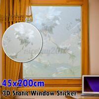 45x200cm Fensterfolie Statische Sichtschutzfolie Milchglasfolie Glasdekorfolie