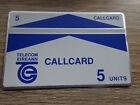 Test - Telefonkarte Irland  / CallCard 5 Units / VOLL-ungebraucht (mint)