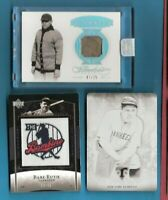 BABE RUTH FLAWLESS JERSEY CARD #d7/25 + PRINTING PLATE 1 OF 1 1/1+ BAMBINO PATCH