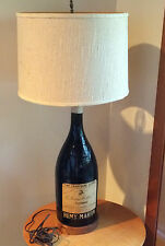 Vintage Mid-Century Lamp Gallon Remy Martin Cognac Glass Bottle France Vtg RARE