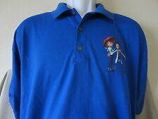 Rare Cinemark CLOUDY WITH A CHANCE OF MEATBALLS Promo Polo Shirt Size XL