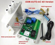 4G GSM-AUTO - 2 x 30 Amp Remote Control Relays - AC Powered - USA/Canada/Mexico