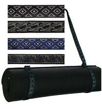 Durable Strap Sling Yoga Pilates Mat No Bag - Warrior stitch pattern