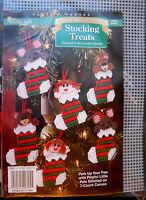 Needlecraft Shop Plastic Canvas Kit Stocking Treats Christmas Ornament Craft NEW