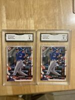 Lot Of 2 2018 Bowman Bo Bichette RC Graded 9 Mint