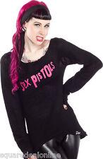 130467 Sex Pistols Black & Pink Logo Fury Sweater Sourpuss Punk XX-Large 2XL
