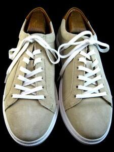 """NEW Allen Edmonds """"COURTSIDE"""" Men's Suede Sneakers 9.5 D Parchment (cream) (661)"""