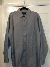 NEW Double TWO Easy Care Mens shirt -  Dark Grey - 17.5