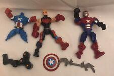 Lot Marvel Avengers Super Hero Mashers Action Figures Parts