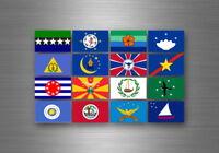 Planche autocollant sticker etiquette drapeaux region province palau palaos