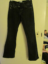 Low Rise Grey - Black Moto TopShop Bootcut Stretch Jeans in Size 28 Waist & L32