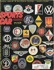 Sports Car Graphic magazine April 1963  Road Test top 18 for 1963  buyer's guide