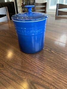 Le Creuset Canister Spice Jar Stoneware Blue