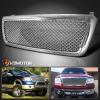 2004-2008 Ford F150 Chrome Honeycomb Style Front Upper Hood Grill Grille ABS