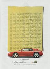 1994 Lotus Esprit S4 PRINT AD Red Car Side-View Photo Vintage Rare