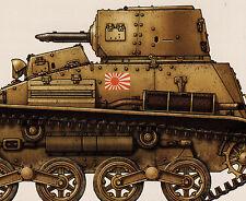 JAPANESE ARMY TANKETTE Carden Loyd Mk. VI Type 92 Type 94 TK Type 97 AFV Tank