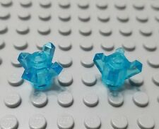 LEGO Lot of 2 Translucent Light Blue 4 Point Minifigure Rock Crystals