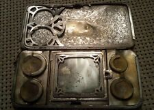 Antique Engraved Sterling Silver Compact Change Purse