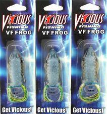 (3) Vicious Fishing Topwater VF Frog VF50-Sexy