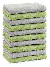 Betz 10 Stück Seiftücher Seiflappen Seiftuch PREMIUM 30x30cm grün & silbergrau