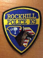 POLICE PATCH ROCKHILL  K9 K-9 CANINE SOUTH CAROLINA SC STATE