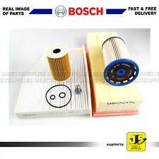 BOSCH SERVICE KIT AUDI Q3 2.0 TDi FILTERS OIL AIR FUEL CABIN SUMP PLUG